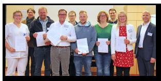 Weitere erfolgreich zertifizierte Workflow-Manager im Klinikum Nordfriesland